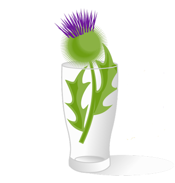 ScottishBrewing.com - Thistle In Glass.
